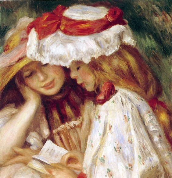 """"""" Jeunes filles lisant """" d'Auguste Renoir"""