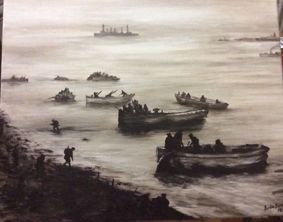"""""""Dawn 25th April 1915"""" by Paula Benson from Centenary Collection."""