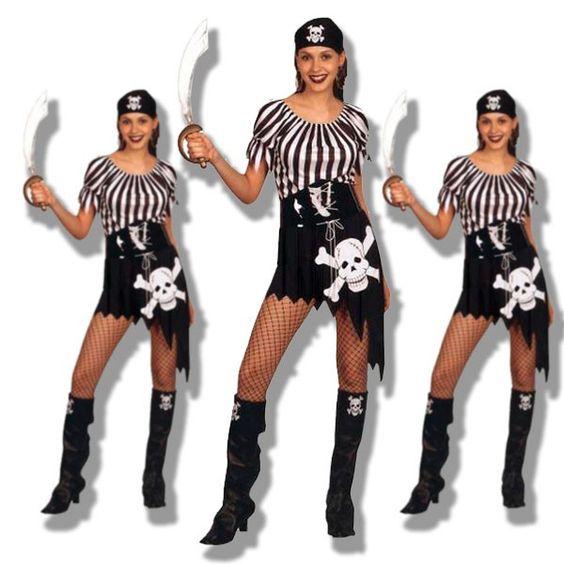 Disfraz de pirata en blanco y negro disfraces carnaval - Disfrazes para carnavales ...