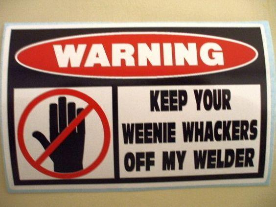 FUNNY WELDER WELDING ROD MIG TIG WIRE IRON WORKER FABRICATOR HELMET STICKER 278 #DecalPRO