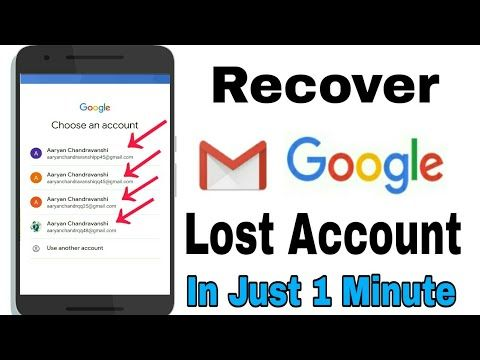 How To Recover Lost Email Id And Password Google Account