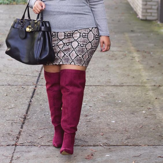 Plus Size Wide Calf Over the Knee Boots from Eloquii | Plus Size