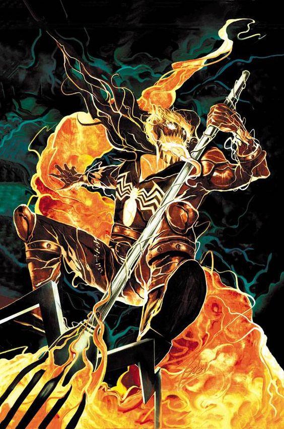 Venom Ghost Rider by Mike Del Mundo