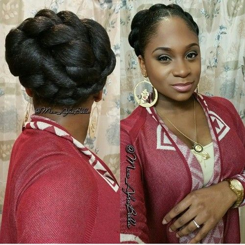 chunky twists updo for natural hair: