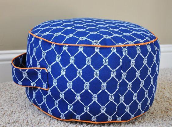 Tutorial: Land of Nod inspired Floor Cushion: Cushion Tutorial, Floor Pillows, Floor Pouf, Land Of Nod, Floor Cushions