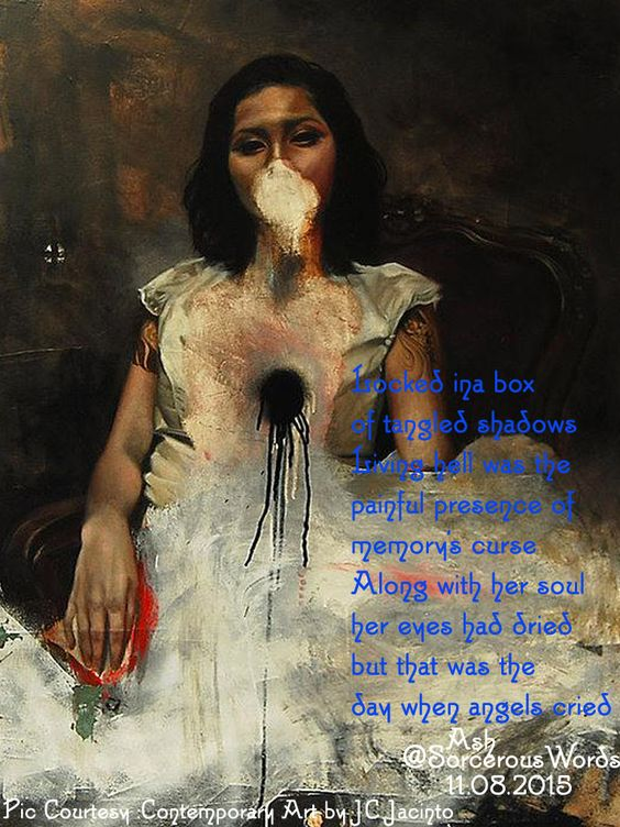 Locked InA Box- #DSpoetry Tangled Shadows- #MadVerse Living Hell- #elixirpoetry 187 #ashverse #micropoetry #AshPoetry