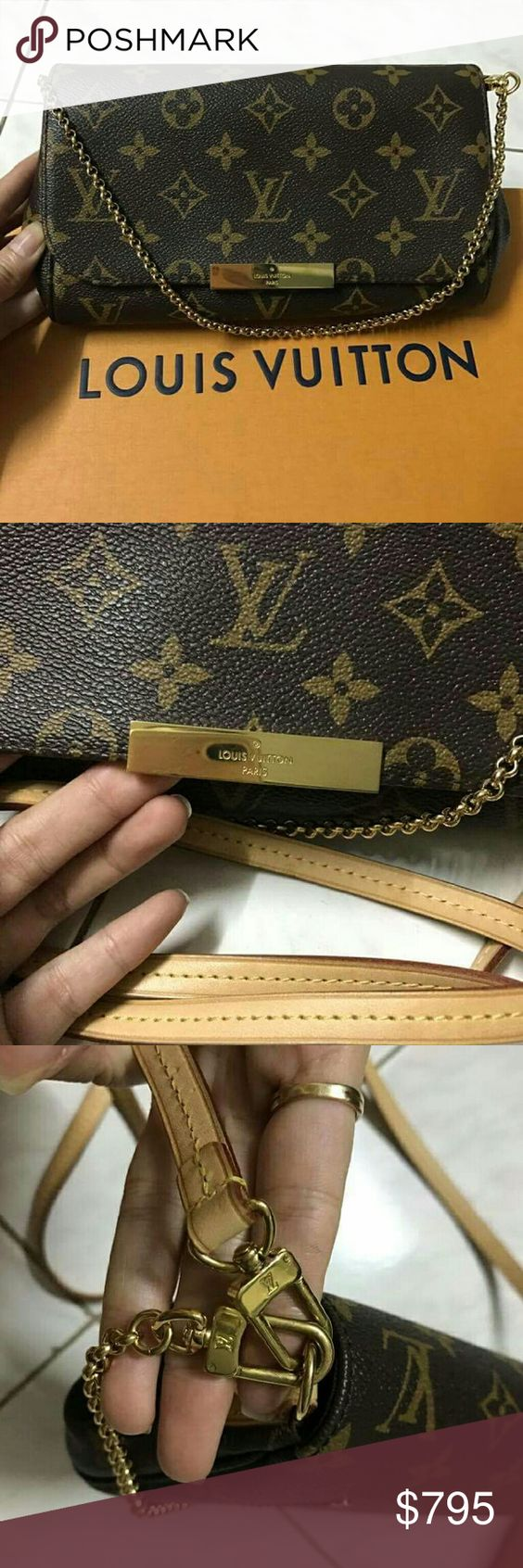 LV favorite pm In perfect condition. Bought it 3 months ago, date code is FL3186 which is made in week 38th of 2016, made in France.  I let it go because I need money, just moved in new house so I lost receipt somewhere among my unpack stuffs, still have box and dustbag. Louis Vuitton Bags Crossbody Bags