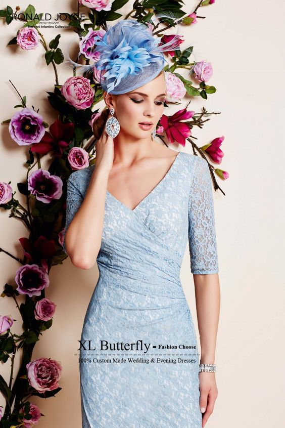 Aliexpress.com : Buy 2015 New Design V Neck Short Sleeve Ice Blue Knee Length Mother Of The Bride Lace Dresses With Jacket Cheap Wedding Party Dress from Reliable lace communion dress suppliers on xlbutterfly | Alibaba Group