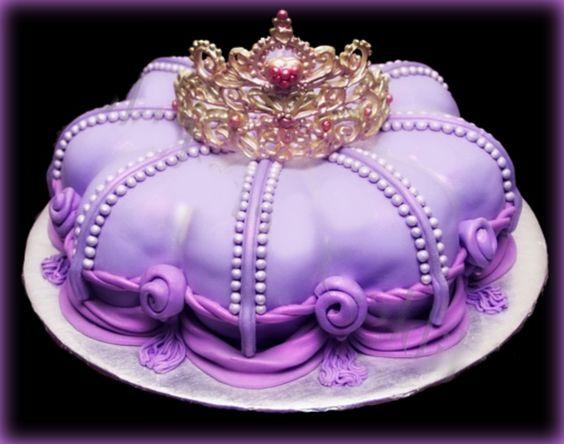 Adorable purple princess cake