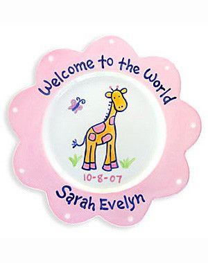 Newborn Baby Girl Personalized Ceramic Plate