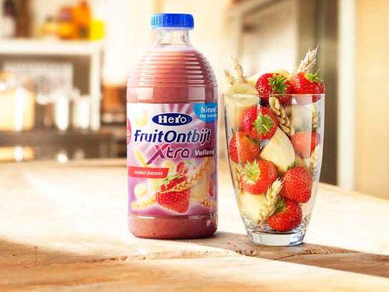 FruitOntbijt. Aardbei-Banaan