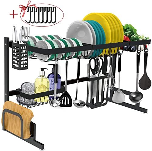 The Perfect Dish Drying Rack Over The Sink Adjustable Large Dish Rack Drainer For Kitchen Organizer Storage Space Saver In 2020 Dish Rack Drying Sink Sizes Dish Racks