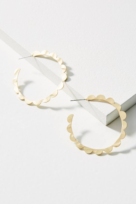 Shop the Scalloped Hoop Earrings and more Anthropologie at Anthropologie today. Read customer reviews, discover product details and more.