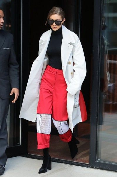 Model Gigi Hadid steps out in New York City, New York on February 13, 2017. Gigi has been busy walking and attending fashion shows during New York Fashion Week.