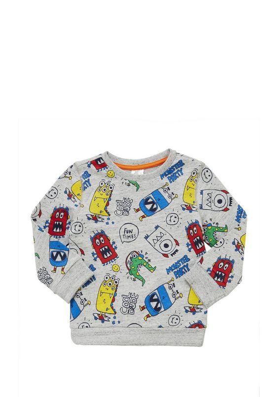 Clothing at Tesco | F&F Monster Party Sweatshirt > hoodiessweatshirts > Shop All Boys > Kids