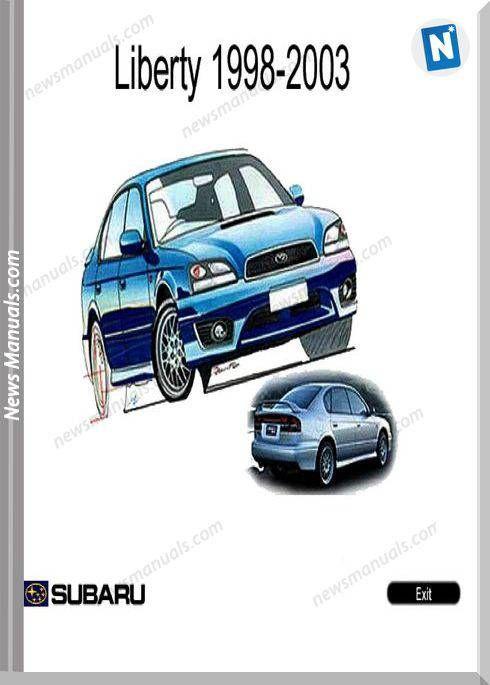 Subaru Liberty B12 2003 Year English Service Manual Subaru Years Manual