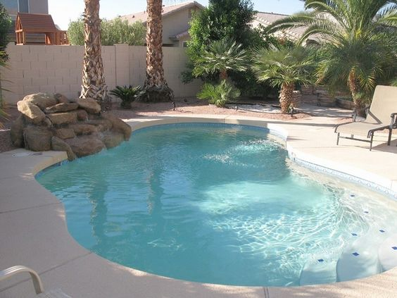 Small Patio Outdoor Swimming Pool Design Ideas Kidney