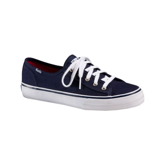 Women's Keds Double Up - Navy Canvas Casual ($50) ❤ liked on Polyvore featuring shoes, sneakers, navy canvas, keds footwear, navy shoes, keds, navy blue canvas shoes and navy sneakers