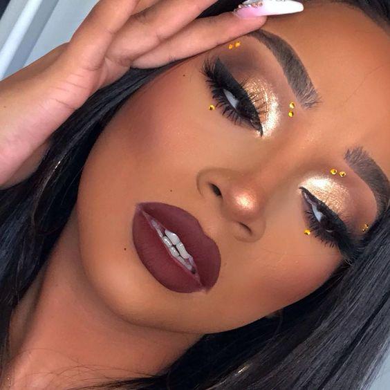 2019 Stunning Makeup Looks for Black Ladies