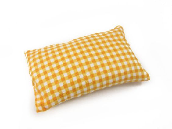 Orange Gingham Emery Pincushion / Pin cushion  Keep by NAKPUNAR, $15.00