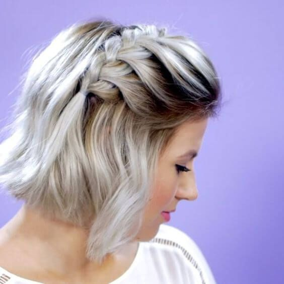 27 Braid Hairstyles For Short Hair That Are Simply Gorgeous Cheveux Courts Coiffure Cheveux Courts Ondules