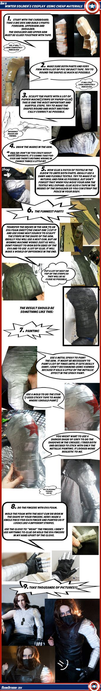 TUTORIAL - Winter Soldier's metal arm by MarineOrthodox (Halloween)