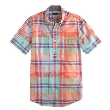 Men'S Half Button Down Shirt