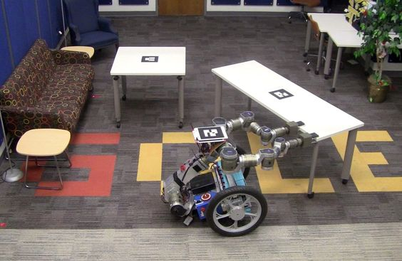Georgia Tech robot moving furniture