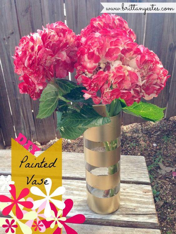 DIY Painted Vase | Things I Should Make | Pinterest | Vase, Glitter ...