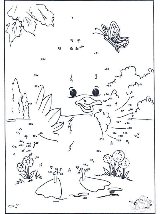 Malen nach zahlen 53 : Arbeitsblu00e4tter Mathematik : Pinterest : Enten, Bilder und Bastelarbeiten