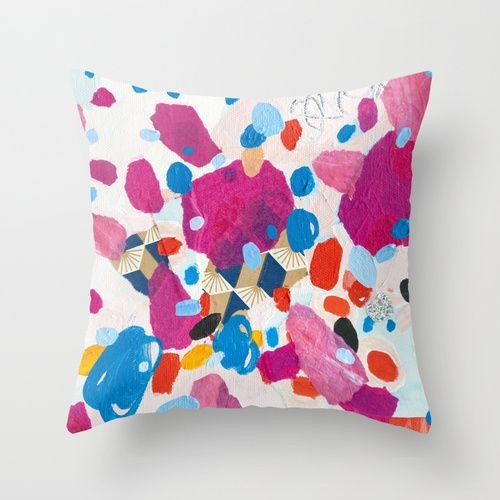 Fuchsia Physics Throw Pillow at Society6