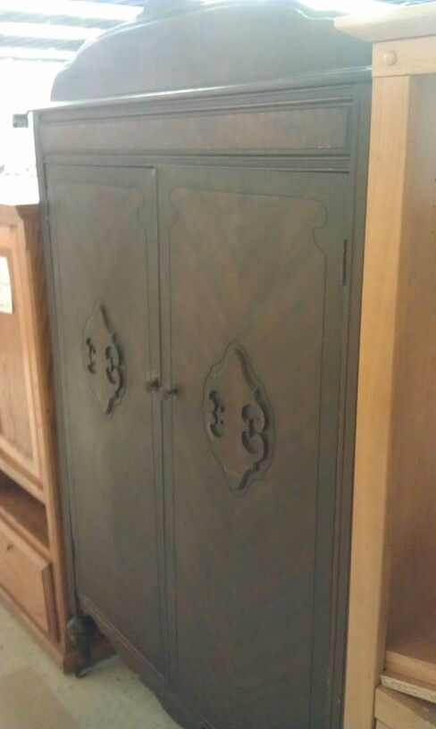 My Goodwill antique armoire find yesterday.  Going to redo with chalk paint & use as a pantry. So excited! <3