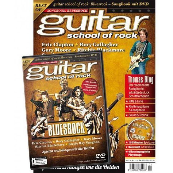 guitar school of rock: Bluesrock - Songbook + DVD, 9,90 €