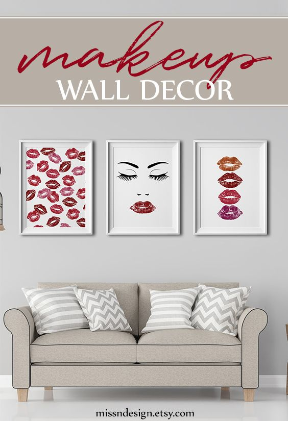 Makeup Decor Makeup Wall Art Makeup Wall Decor Makeup Wall Art Printable Lipstick Art Lipstick Art Illustra Girly Decor Wall Art Prints Fashion Art Prints