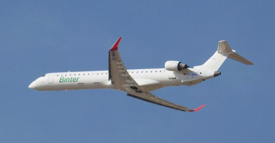 Canary Islands Spotting....Spotter: EC-MEN Binter Canarias Canadair CL-600-2D24 Region...