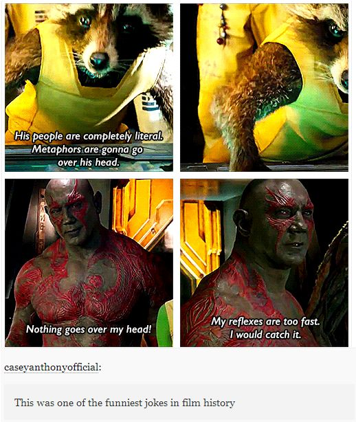 *SPOILER* - Guardians of the Galaxy - funniest jokes in film history