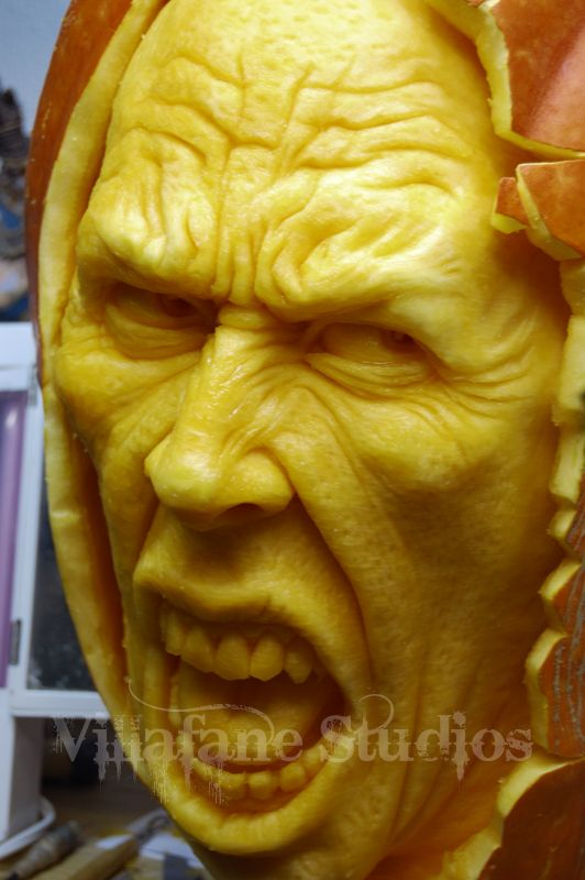 Ray Villafane the greatest pumpkin carvers- also did some fantastic models of superheros