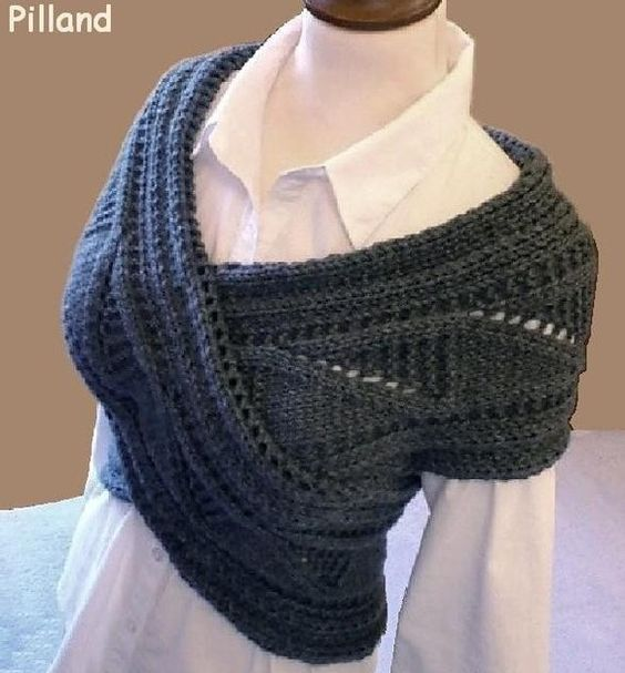 Sew the ends of a large scarf together to make a s/s criss cross sweater