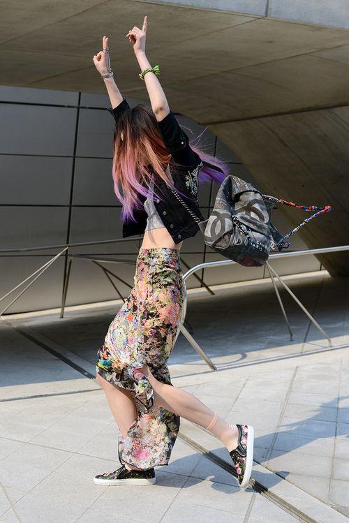 Streetstyle: Irene Kim at Seoul Fashion Week shot by Kim Jin Yong