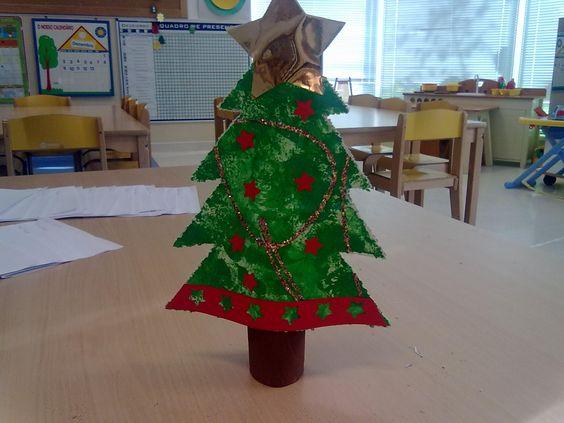Natal no jardim de infância- a prendinha que os meninos fizeram.