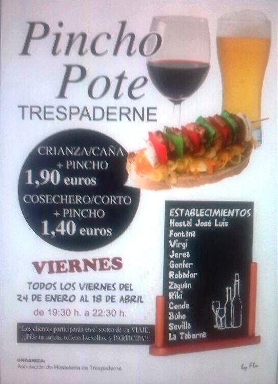 24/01 -18/04 Pincho Pote. Trespaderne  Los viernes de 19:30 a 22:30 h.