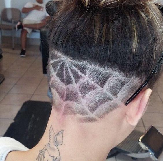Cobweb Design For Halloween Undercut Hairstyles Undercut Designs Nape Undercut