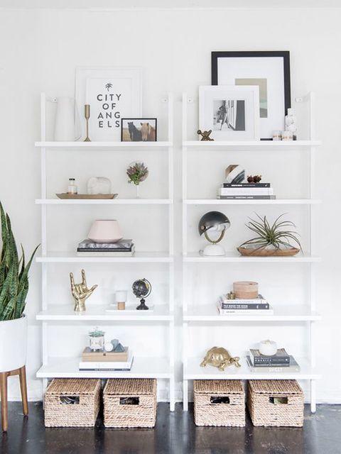 12 Ideas Con Estanterías Blancas Murales De Pared Para Dormitorio Decorar Estantería Estanterías Blancas