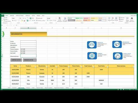 Excel Cómo Hacer Un Inventario De Entradas Y Salidas En Excel Youtube Microsoft Excel Informatica Y Computacion Tecnología Educativa