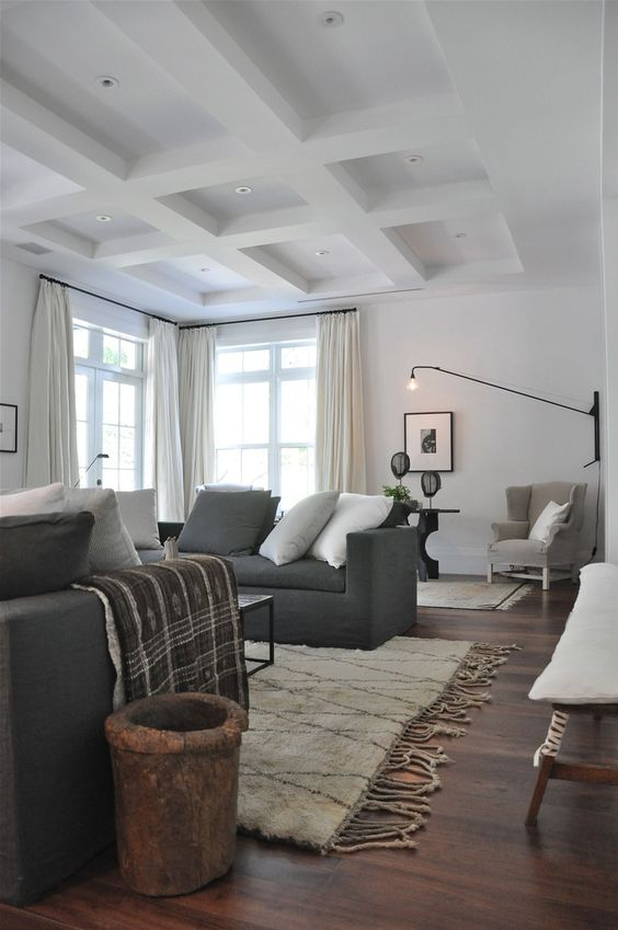 Grey Floors Black Couch: Charcoal Sofa, Sofas And Ceilings On Pinterest