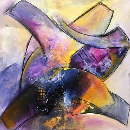 """Ursi Goetz, """"Farbenworte"""" Mit einem Klick auf """"Als Kunstkarte versenden"""" versenden Sie kostenlos dieses Werk Ihren Freunden und Bekannten."""