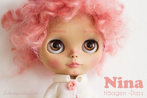 Nina Häagen Dazs NOW for sale! http://elblogdelupi.com/laboutiquedelupi/l-b-d-l-custom-doll-o-o-a-k-nina-haagen-dazs #blythe #custom #dolls