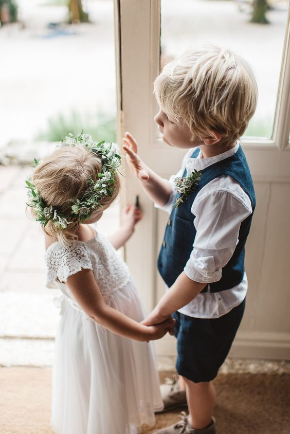 Children at Weddings - Rustic French Wedding At Chateau de Lartigolle With Elegant And Minimal Styling By Another Story Studio With Bride In Laure De Sagazan The Mews Notting Hill Images by Darek Smietana: