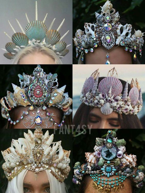 Mermaid crowns: