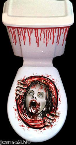 Details About New Halloween Horror Bathroom Toilet Seat
